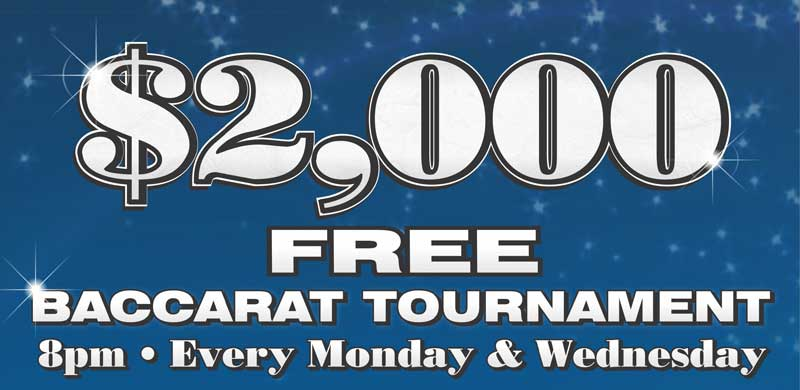Free $2000 Baccarat Tournament