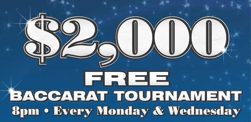Free $2000 Baccarat Tournament