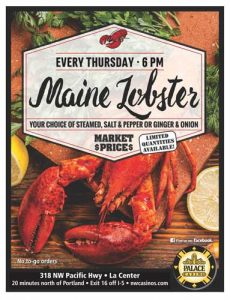 Maine Lobster Restaurant Special